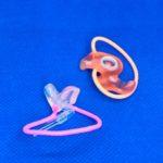 耳輪ゴム付き加工
